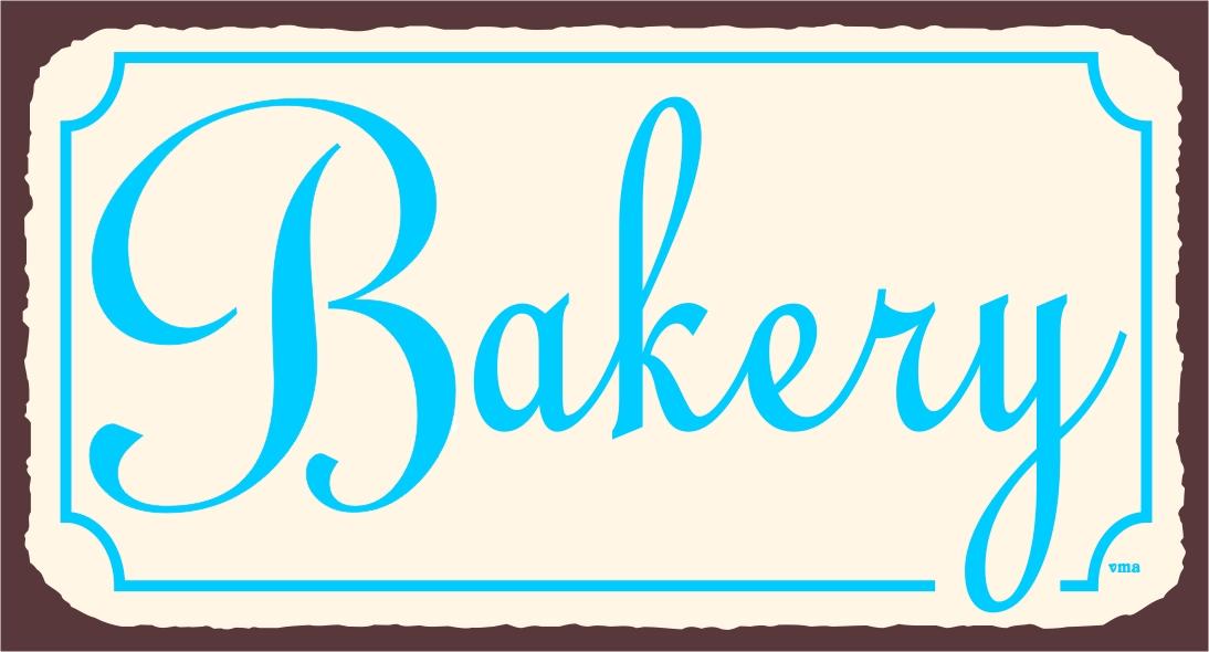 Vintage Bakery Signs Bakery Wall Decor Retro Bakery