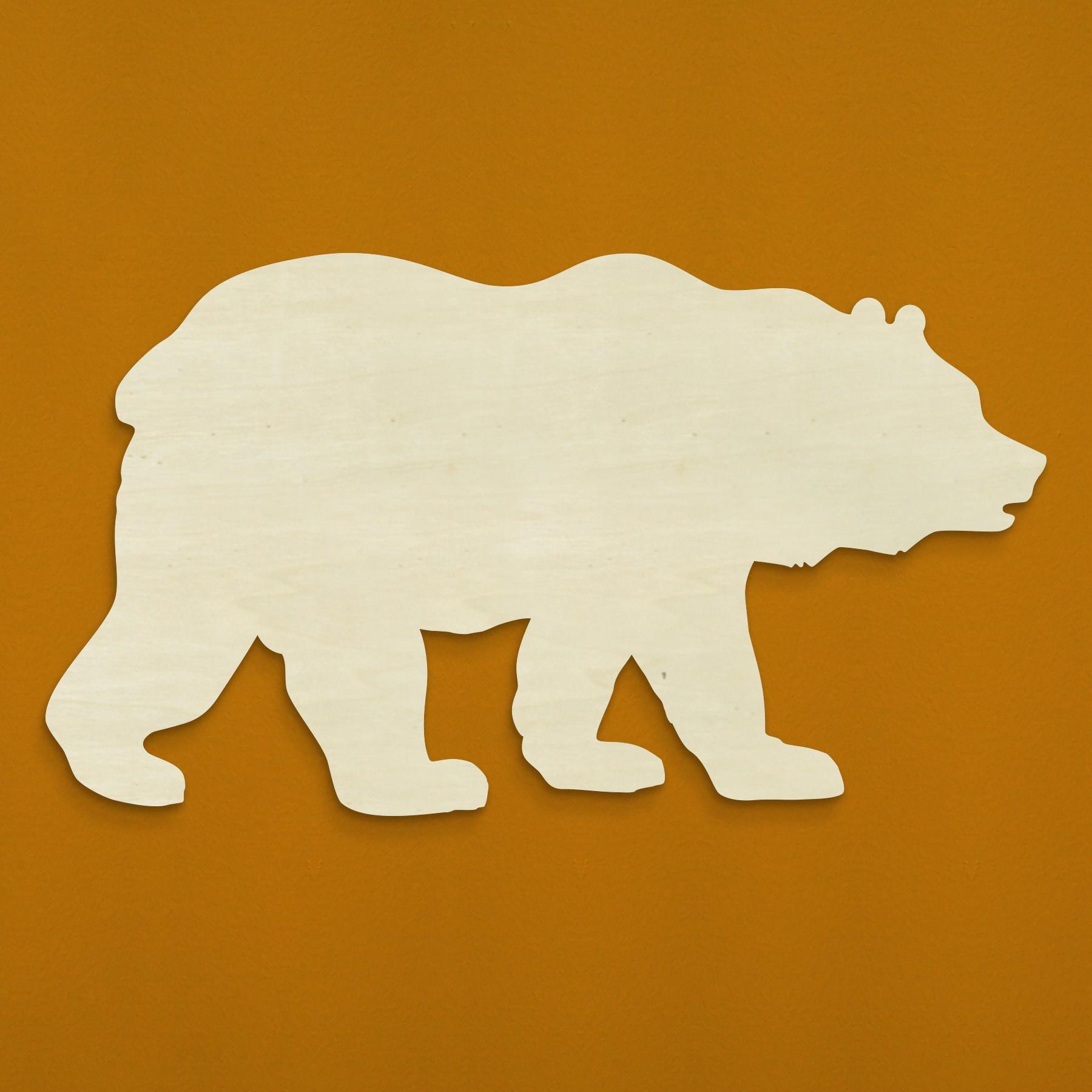 Unfinishedwoodco Bear Silhouette