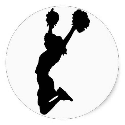 cheerleader silhouette stickers cheerleader silhouette