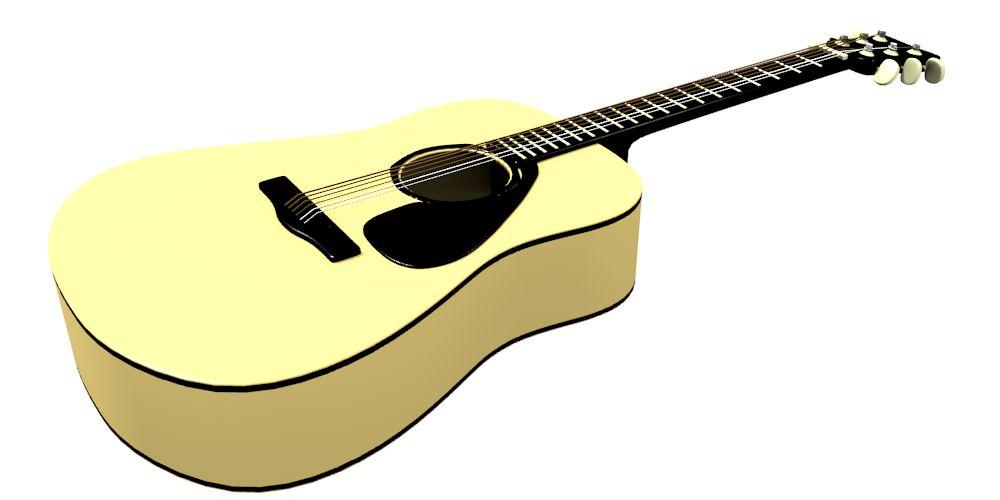 how to make a guitar acoustic with blender muhazdinata. Black Bedroom Furniture Sets. Home Design Ideas