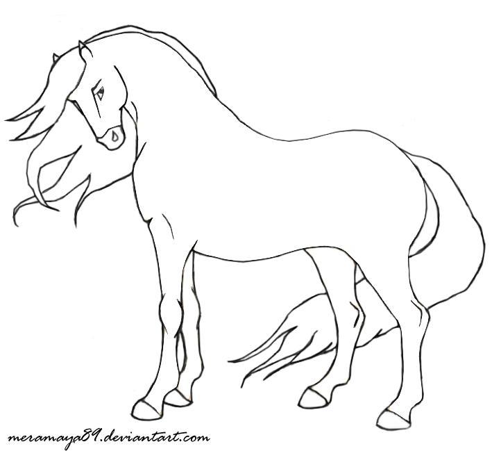 Картинки лошадей контур