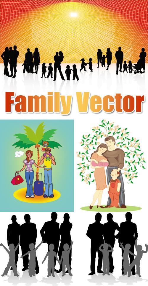 Stock Vector Family Familia Tutoriales En La Web