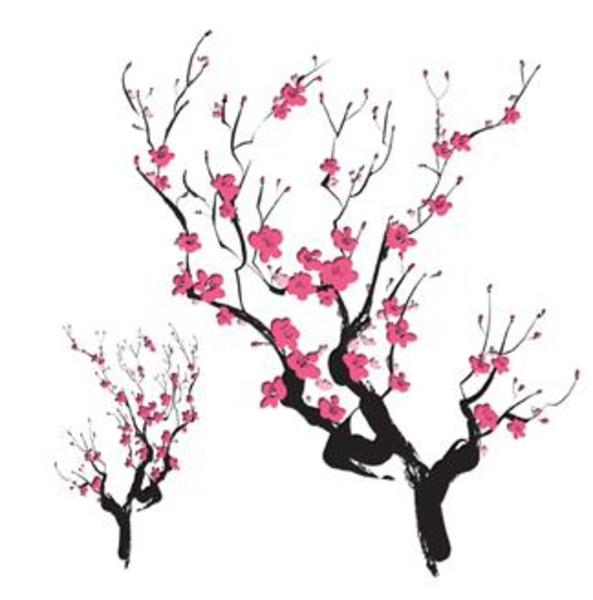 Cherry Blossom Clip Art Border Free Clipart Library