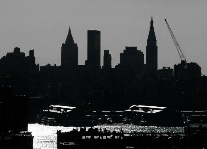 Free Manhattan Skyline Silhouette Download Free Clip Art