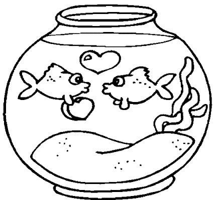 fish bowl Colouring Pa...