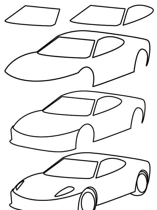 drawing car