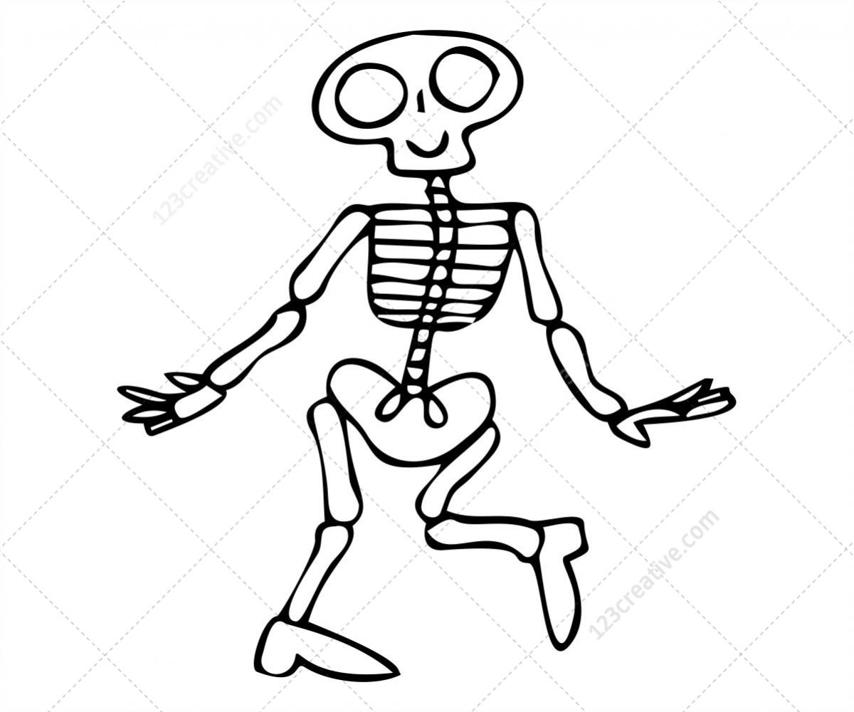 Картинка скелетик для детей