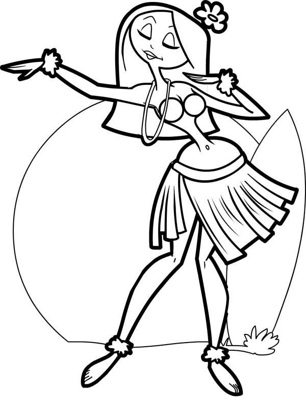 Free Cartoon Hula Dancer Download
