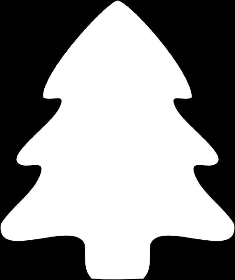 Christmas Tree Outlines HD Printable