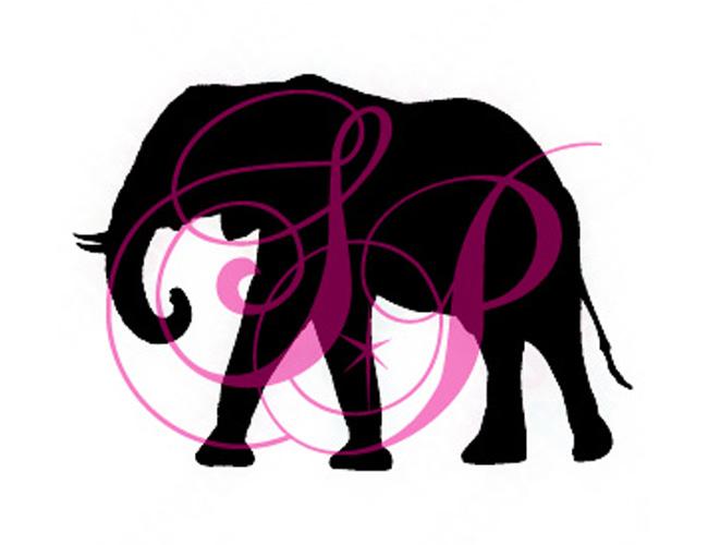 Stencil Elephant Set Of 6 Shimmer Pros