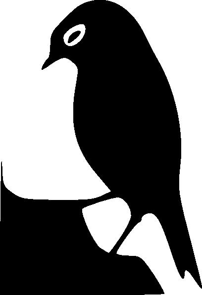 Standing Bird Silhouette clip art - vector clip art online