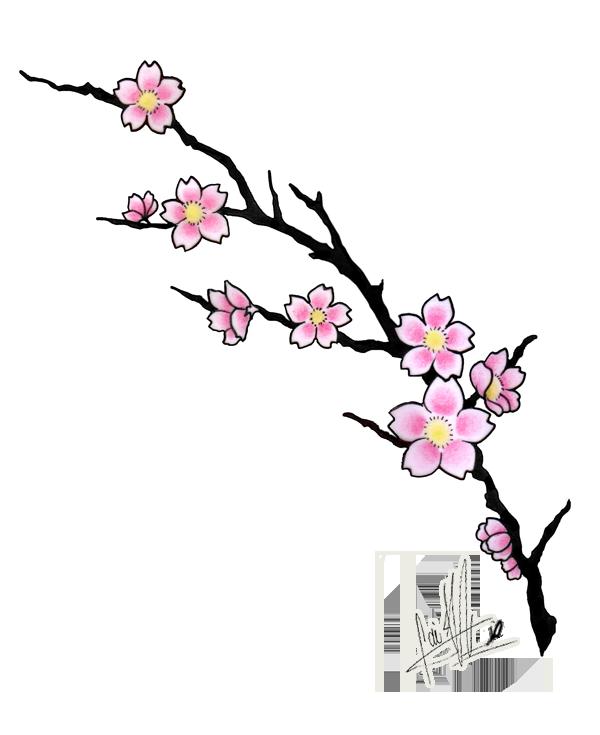 This is an image of Gargantuan Sakura Flower Drawing