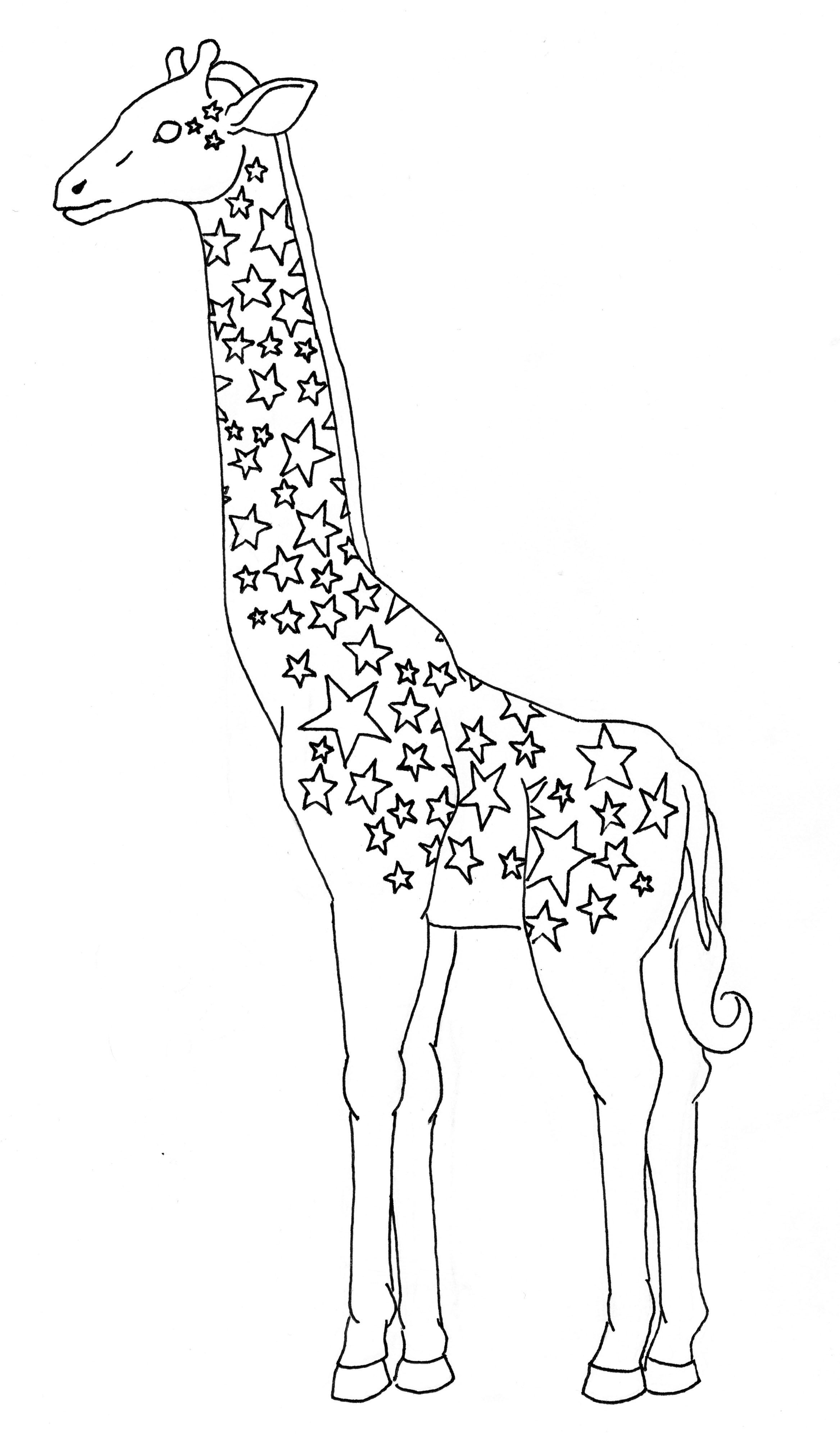 жираф картинка простая оно собрало себе