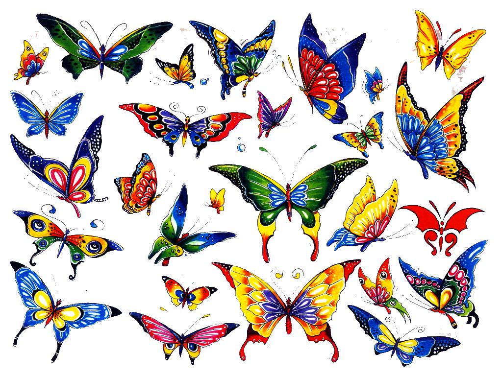 Free Cartoon Butterfly Tattoos Download Free Clip Art