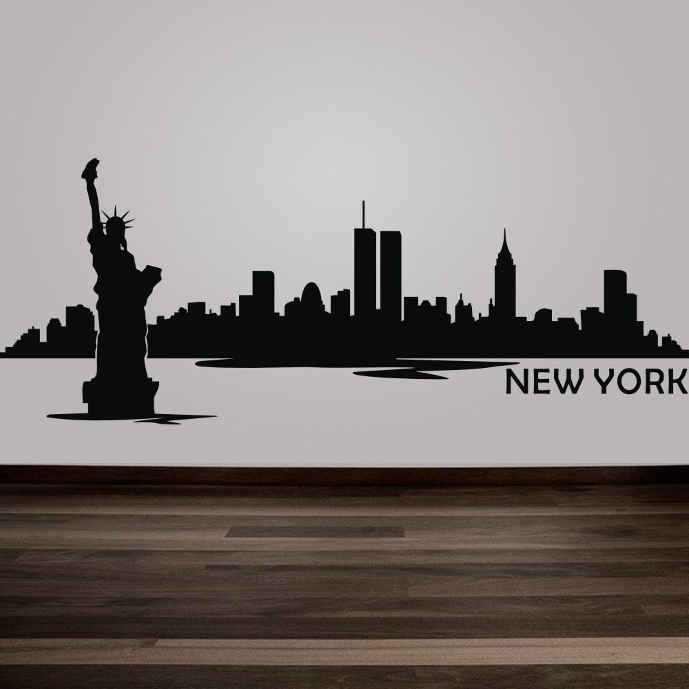 New York City Skyline Silhouette Wall Decal