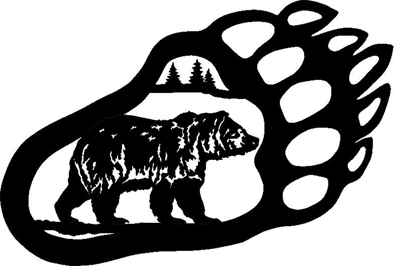bear paw stencil   free download clip art   free clip art   on