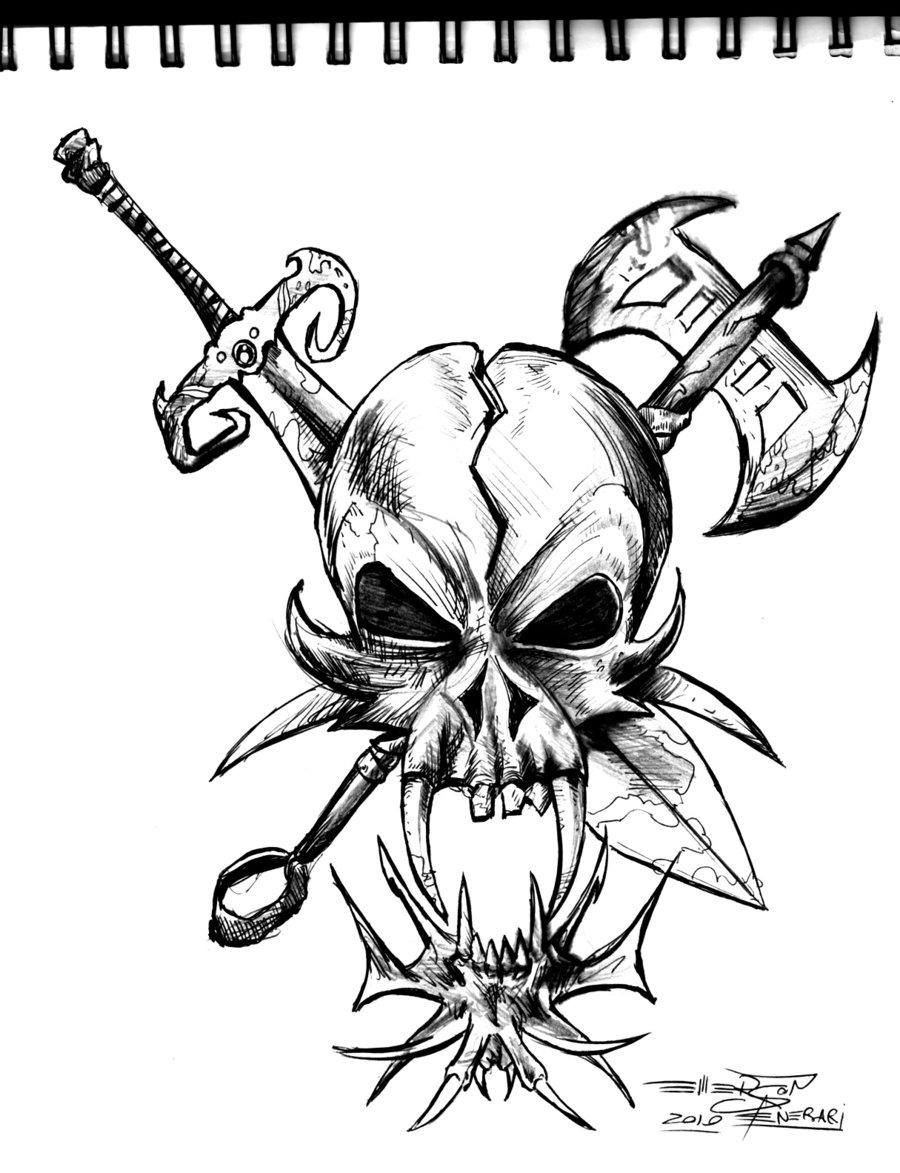Free Cool Drawings Of Skulls Download Free Clip Art Free