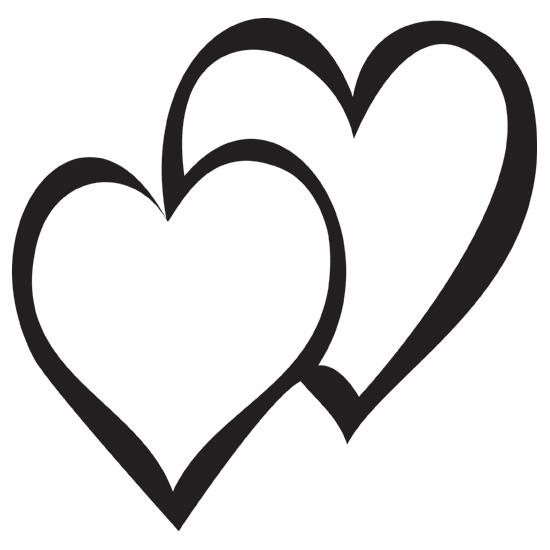 Design Stamp Jumbo Double Heart