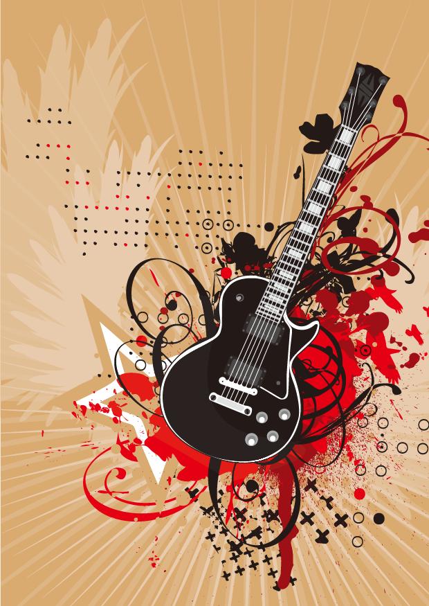 free wing vector guitar firepng download free clip art