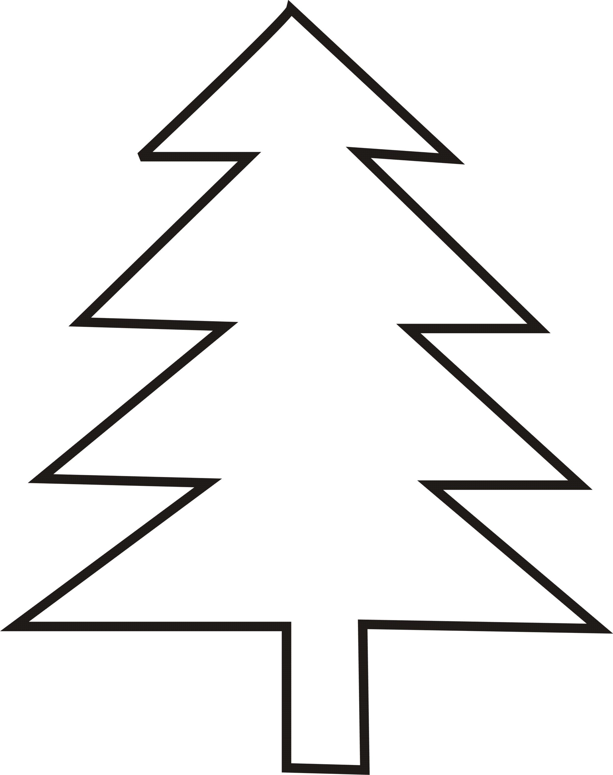 Christmas Tree Outline