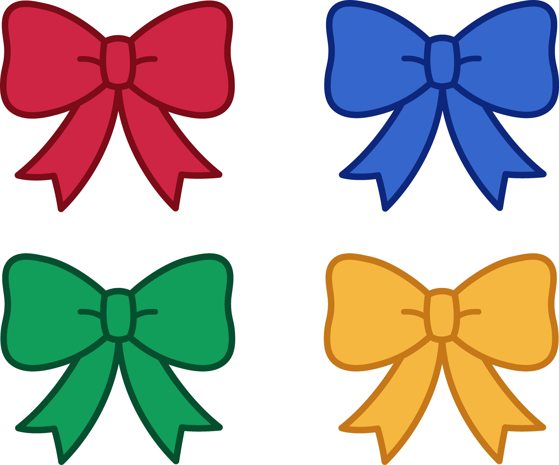 Cute Christmas Bows Clipart