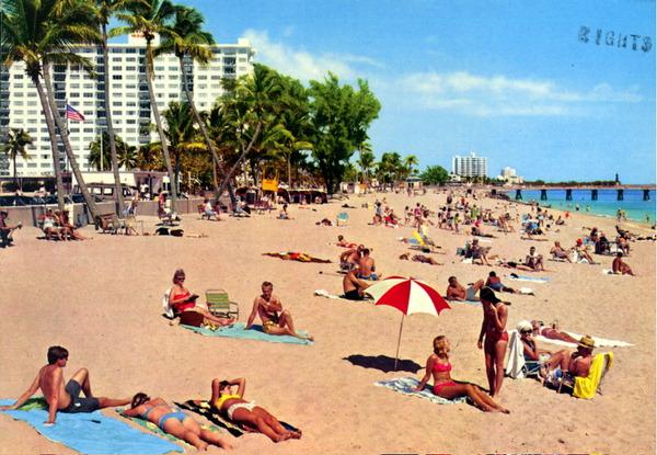 Florida Memory Sunbathing In Pompano Beach