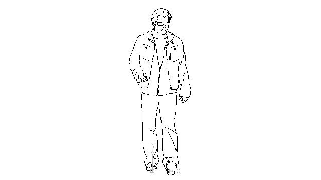 free walking man drawing  download free clip art  free