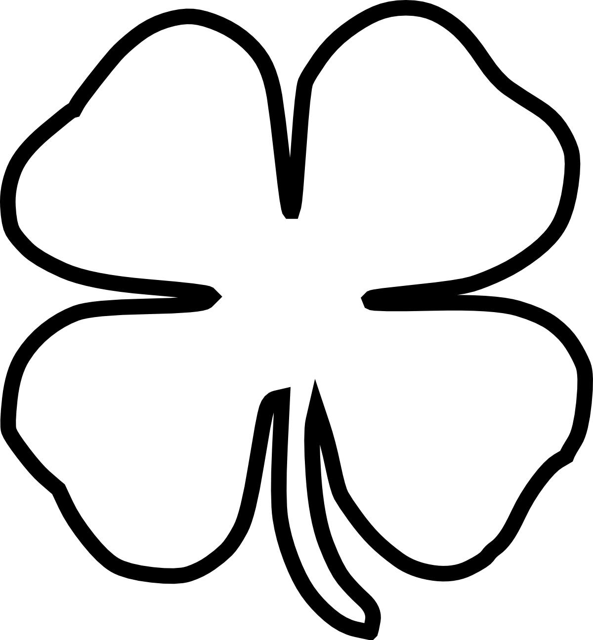 Free Four Leaf Clover Outline, Download Free Clip Art ...