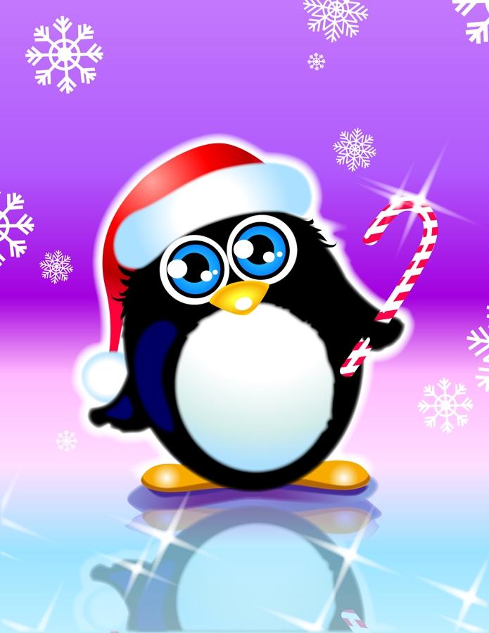 открытка пингвинчик рабочих