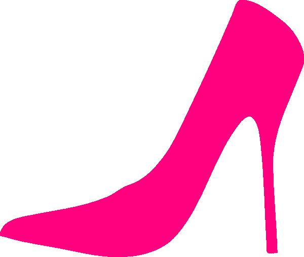 Pink Shoe clip art vector clip