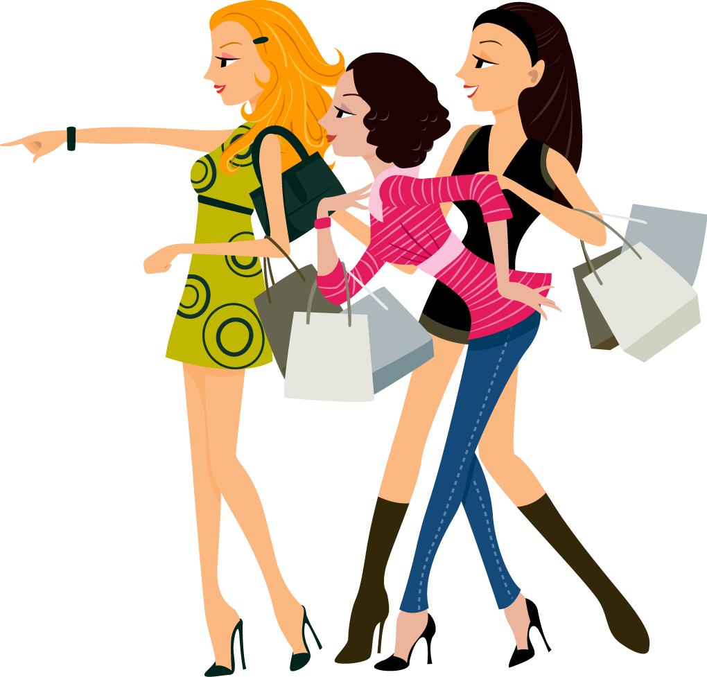 Women Vector Fashion Shopping Free Vector