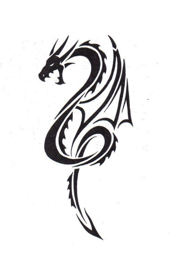 Tribal Dragon by LBalch86deviantart