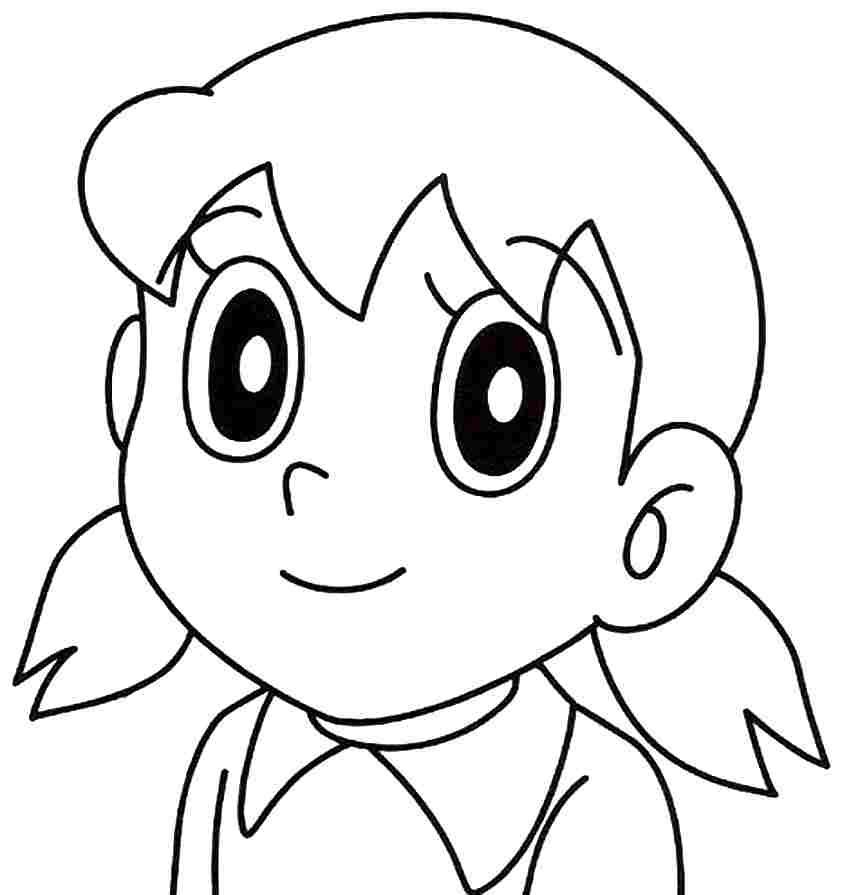 easy sketch of shizuka - Clip Art Library