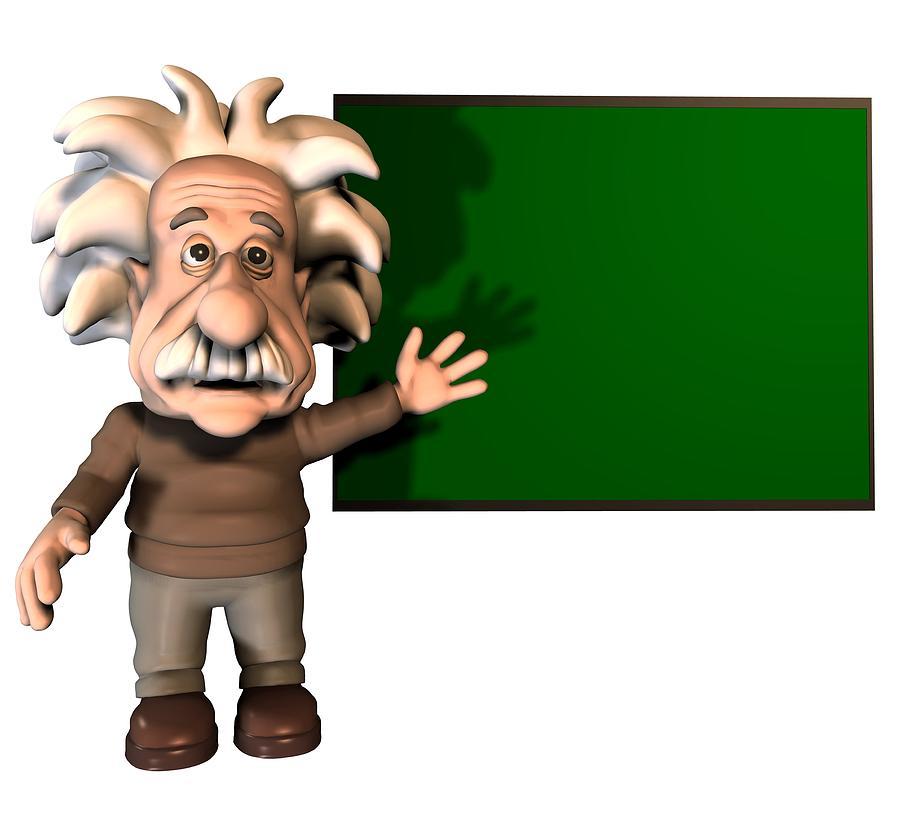 Free Einstein Cartoon Image Download