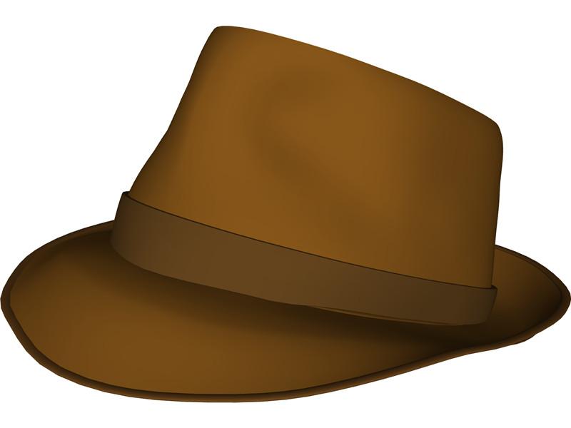 Fedora Hat 3d Model Download 3d Cad Browser