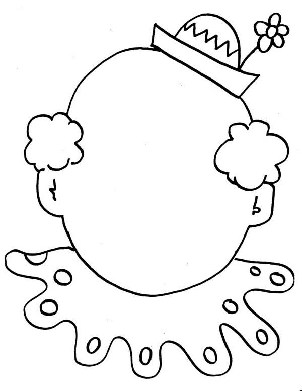 clown faces coloring pages - photo#13