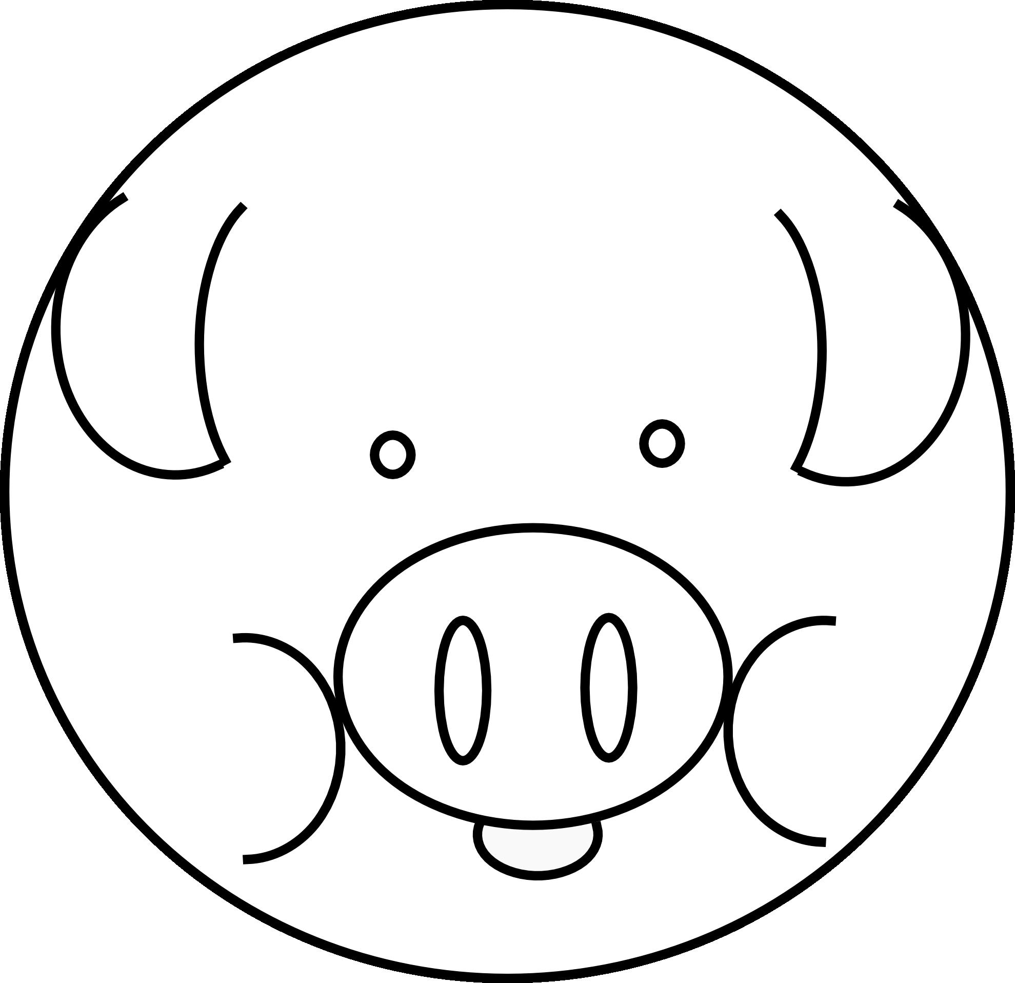 Free Pig Line Art, Download Free Clip Art, Free Clip Art ...