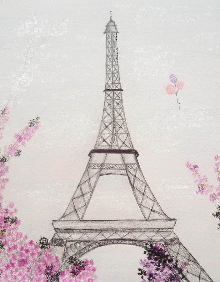 Картинки рисунок эйфелевой башни