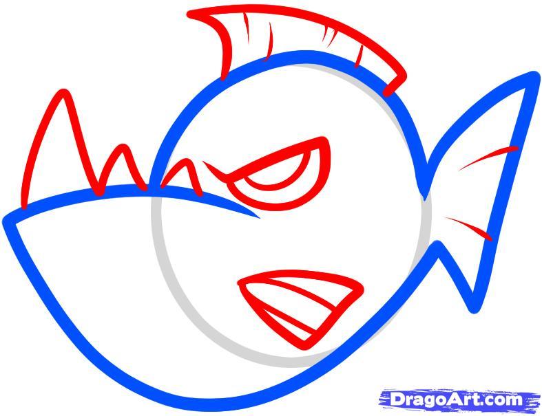 how to draw a cartoon swordfish