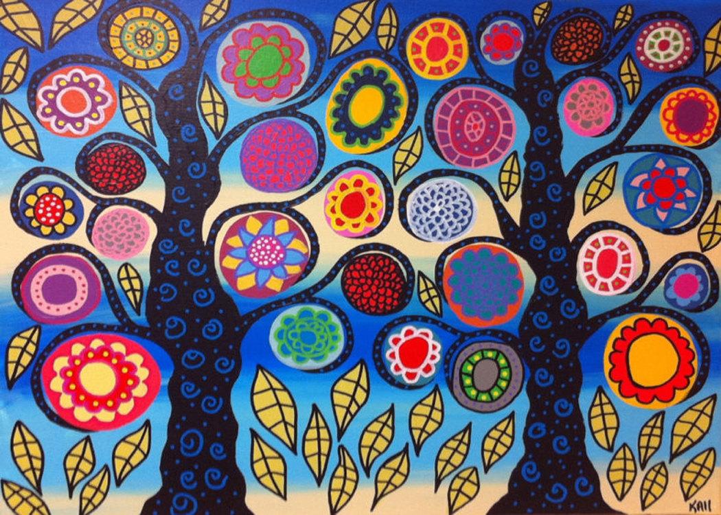 Kerri Ambrosino Mexican Folk Art Print Bright By Kerriambrosino
