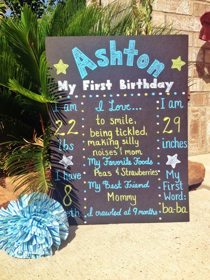 First Birthday Poster Board For Baby Boy Https Www Etsy Com