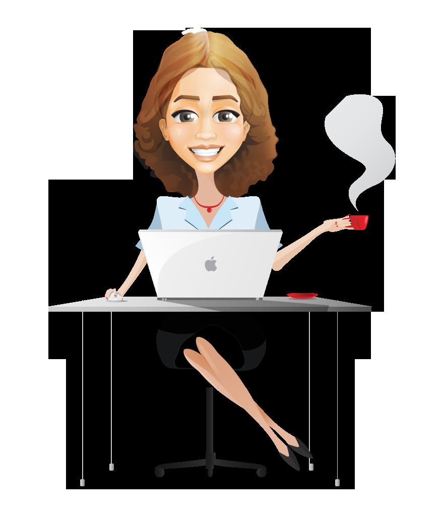 Business Woman Cartoon Png Clip Art Library