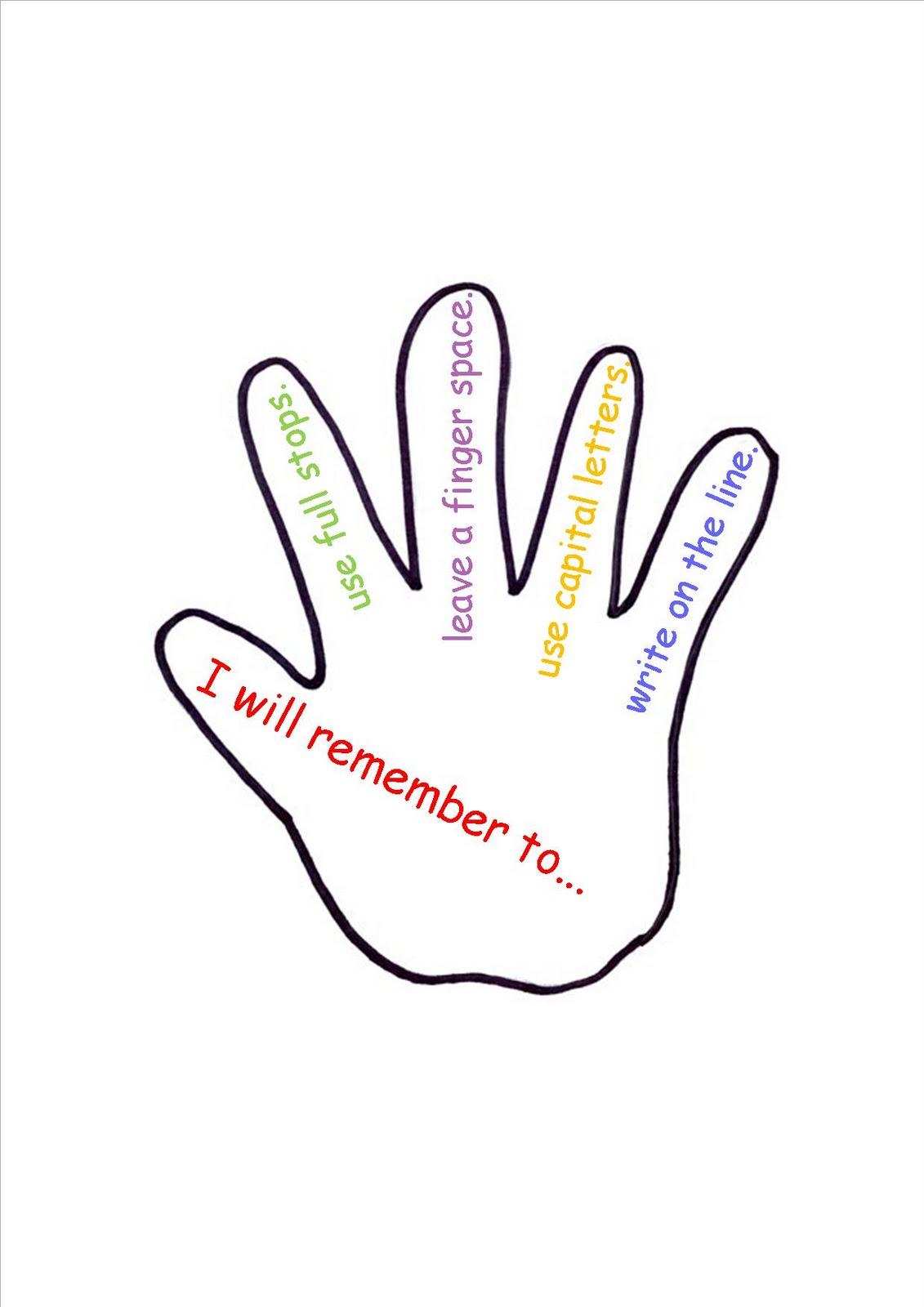 It is a graphic of Printable Hand Template regarding sunday school prayer