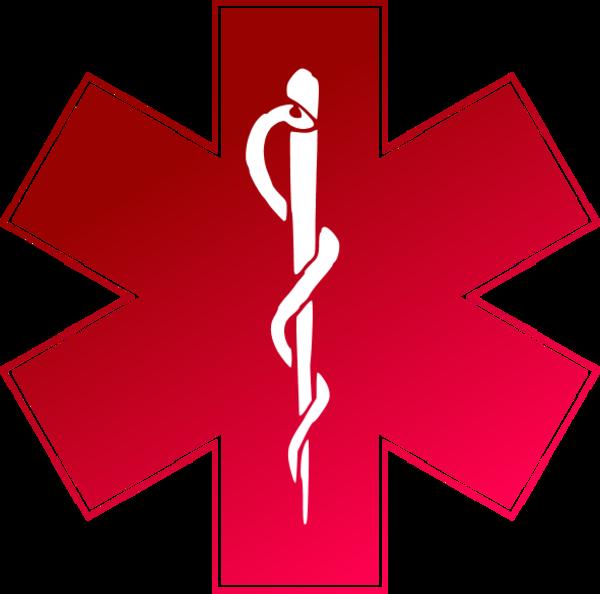 ems emergency medical service logo - vector clip art - clipart