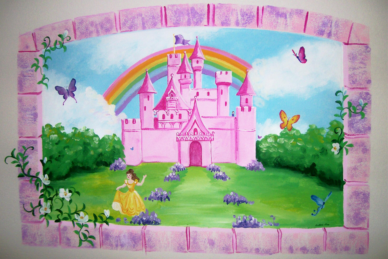 Сказочный замок принцессы картинка