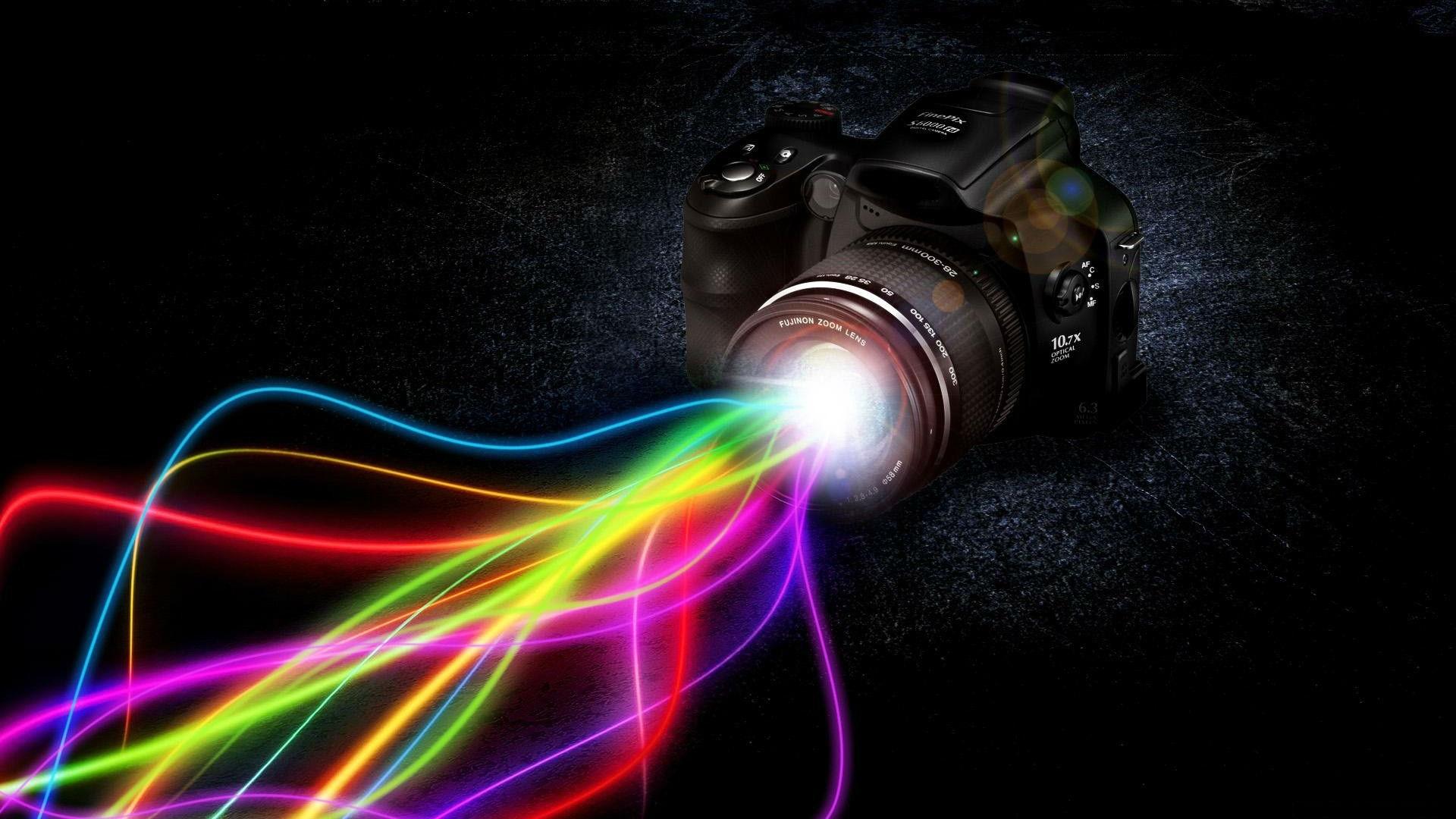 Camera Tech Art Colorful Wallpaper Wallpaper Wallpaperlepi