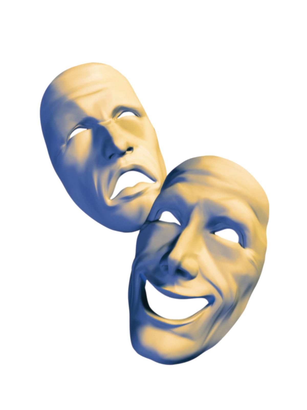 free theatre mask  download free clip art  free clip art Drama Symbol drama masks clipart black and white