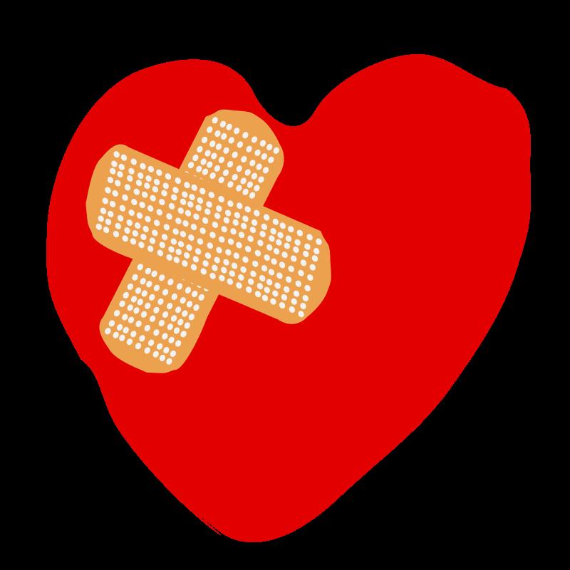 Clipart Broken Heart 01