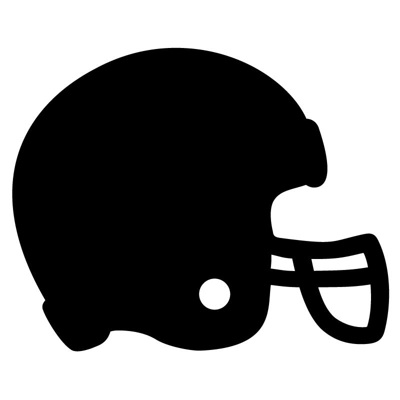 Football Decal Sticker Silhouette Football Helmet Indy
