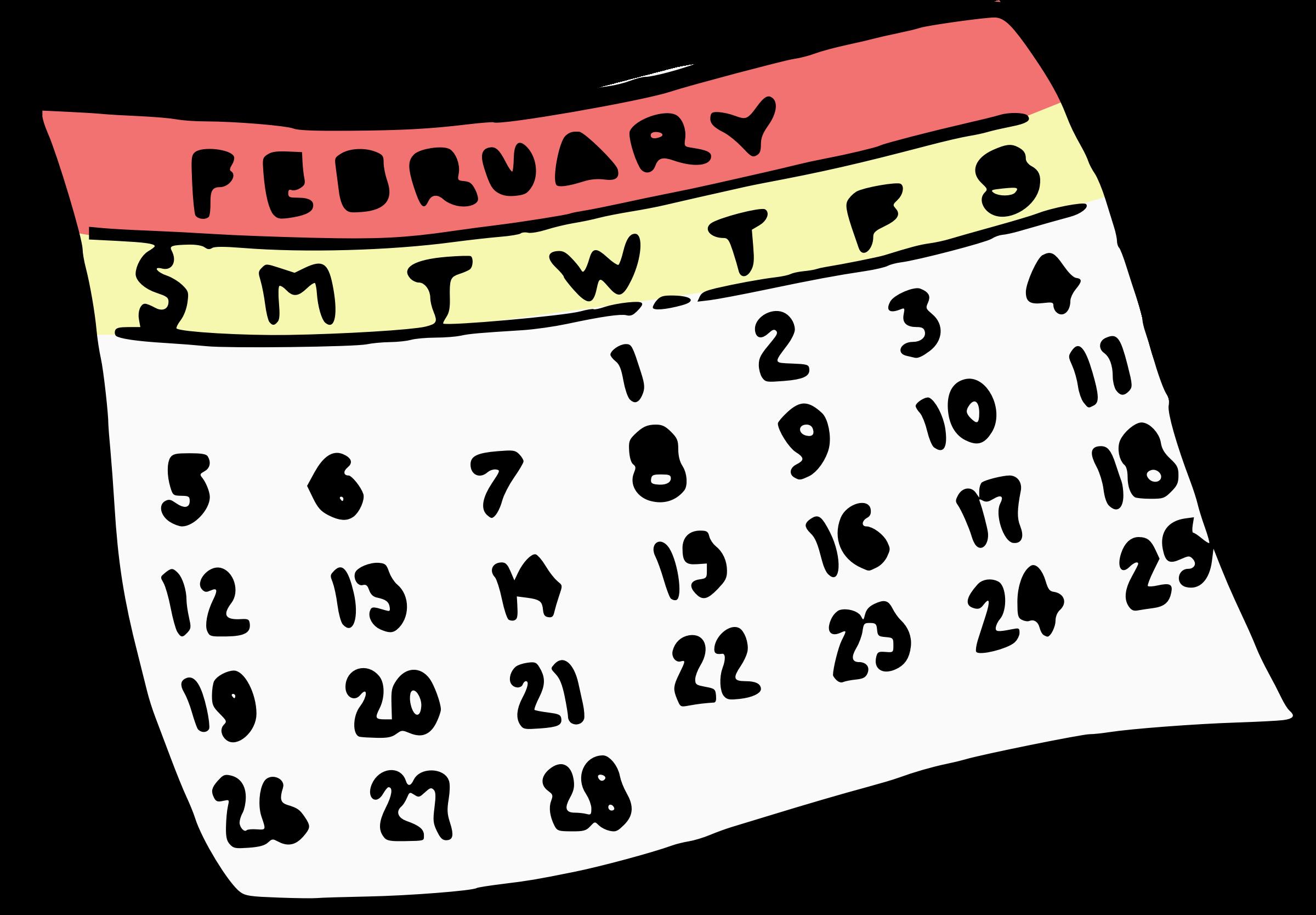 Картинки календаря для презентации нарисованные